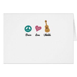 Peace Love Ukelele  Uke Music Lover Funny Gift Card