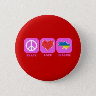 Peace Love Ukraine 2 Inch Round Button