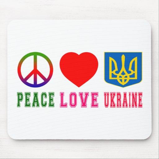 Peace Love Ukraine Mousepad