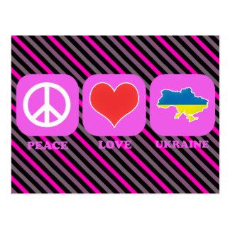 Peace Love Ukraine Postcard