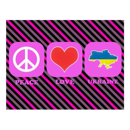Peace Love Ukraine Postcard