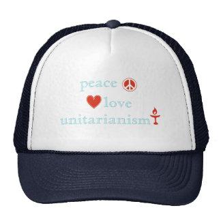 Peace Love Unitarianism Trucker Hat