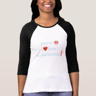 Peace Love Unitarianism Tee Shirts
