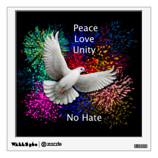 Peace Love Unity Dove Wall Decal