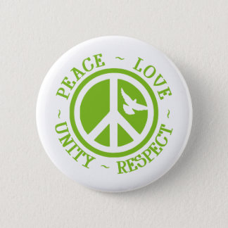 Peace Love Unity Respect 2 Inch Round Button