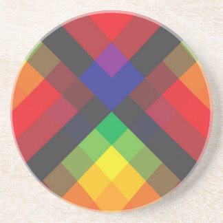 Peace, Love, Unity, Respect Abstract Beverage Coaster