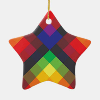 Peace, Love, Unity, Respect Abstract Ceramic Star Ornament