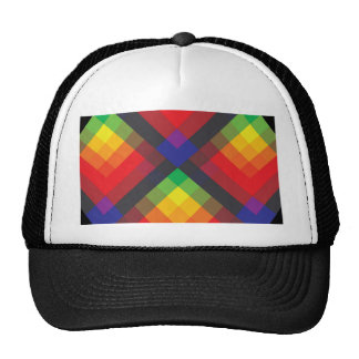 Peace, Love, Unity, Respect Abstract Trucker Hat