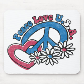 Peace Love USA Mousepad