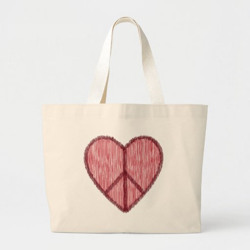 Peace, Love, Valentines Tote Bag