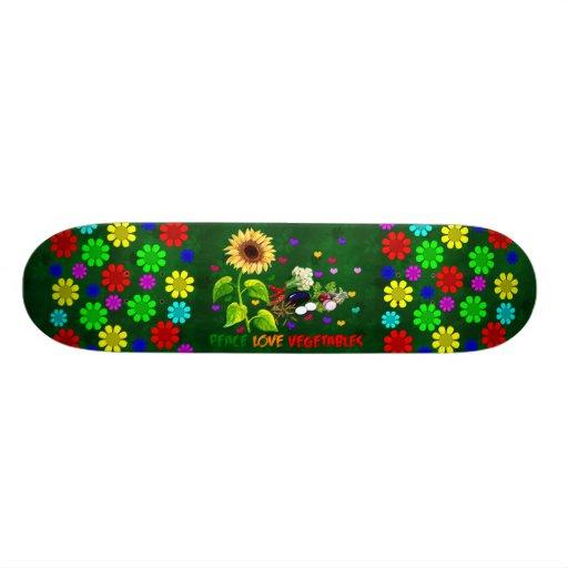 Peace Love Vegetables Skateboards