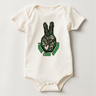Peace Love Veggies Baby Bodysuit