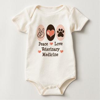 Peace Love Veterinary Medicine Baby Bodysuit