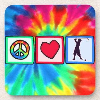 Peace, Love, Vintage Golf Coasters