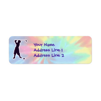 Peace, Love, Vintage Golf Return Address Label