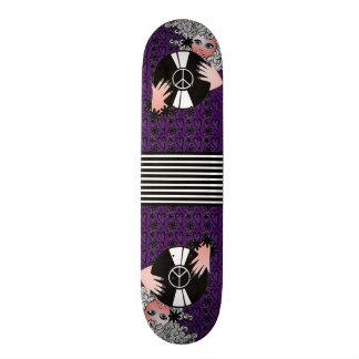 Peace, Love & Vinyl Purple Skate Board Deck