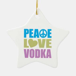 Peace Love Vodka Ceramic Ornament