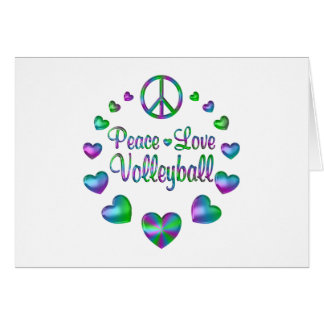 Peace Love Volleyball Card