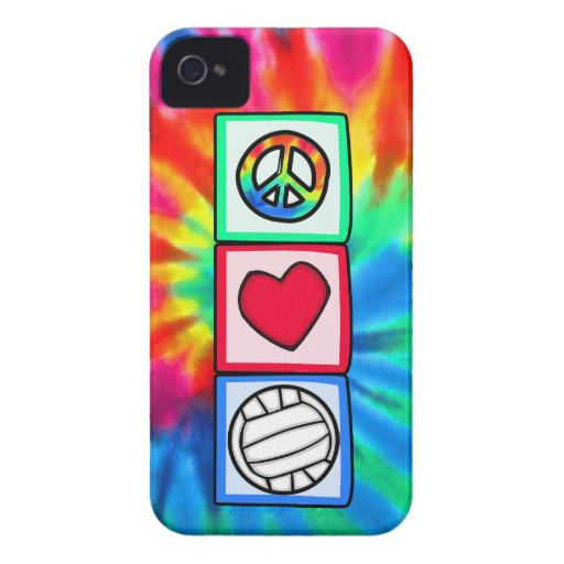 Peace, Love, Volleyball iPhone 4 Cover