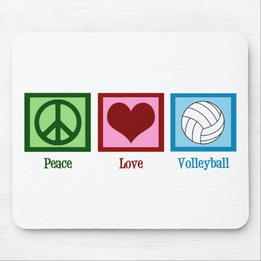Peace Love Volleyball Mouse Pads