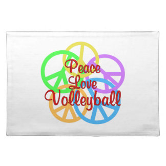 Peace Love Volleyball Placemat