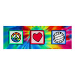 Peace, Love, Volleyball Print
