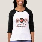 Peace Love Volleyball Raglan Tee Shirt