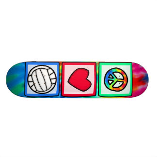 Peace, Love, Volleyball Skate Board Deck