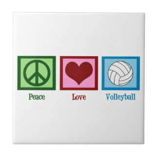 Peace Love Volleyball Tile