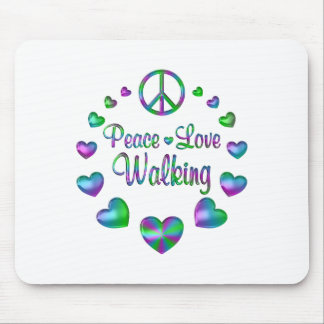 Peace Love Walking Mouse Pad