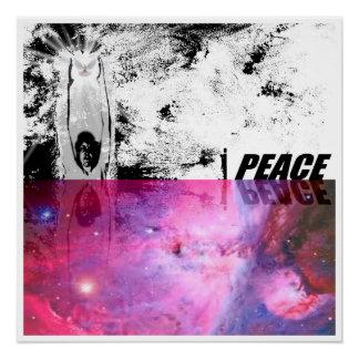 Peace love war peace peace perfect poster