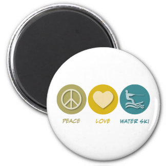 Peace Love Water Ski Magnet