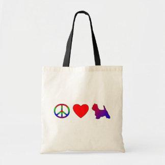 Peace Love Westies Bag