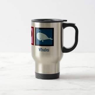 Peace Love Whales Travel Mug