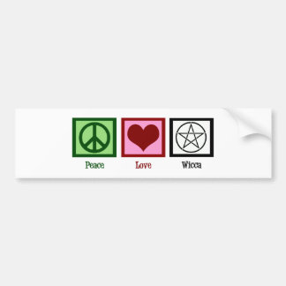 Peace Love Wicca Bumper Sticker
