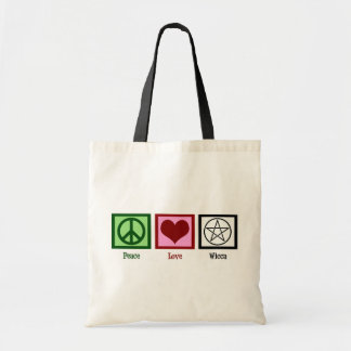 Peace Love Wicca Tote Bag