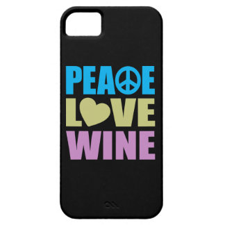 Peace Love Wine Case For The iPhone 5