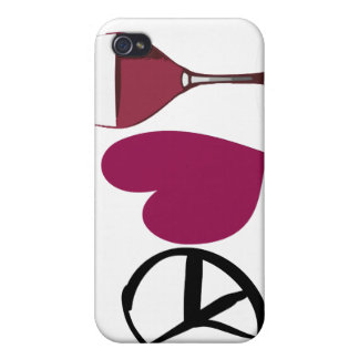 Peace Love Wine Case iPhone 4 Cases