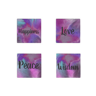 Peace Love Wisdome and Happiness Magnet Set