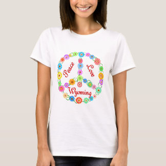 Peace Love Wyoming T-Shirt