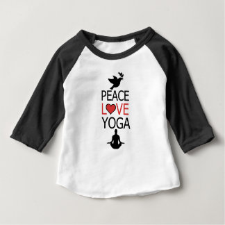 Peace Love & Yoga Baby T-Shirt