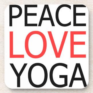Peace Love & Yoga Coaster