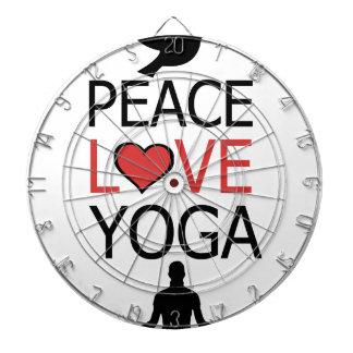 Peace Love & Yoga Dartboard