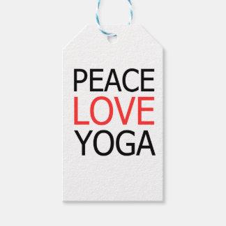 Peace Love & Yoga Gift Tags