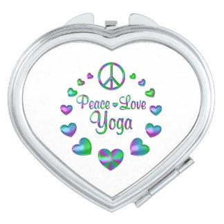 Peace Love Yoga Makeup Mirror