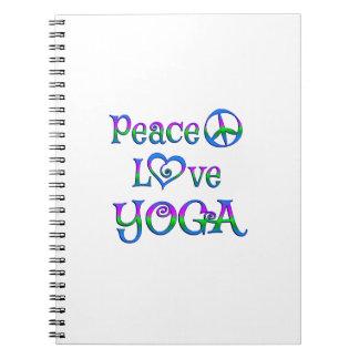 Peace Love Yoga Notebooks