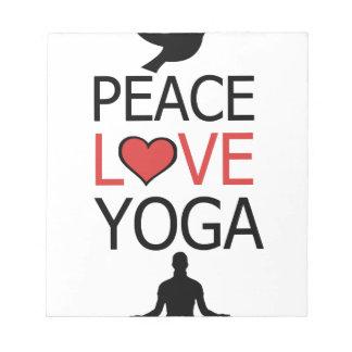 Peace Love & Yoga Notepad