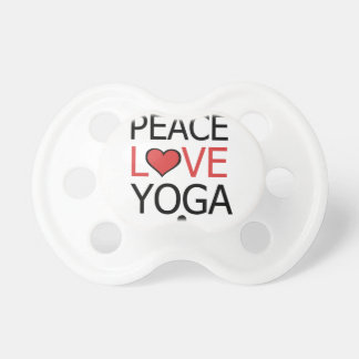 Peace Love & Yoga Pacifier