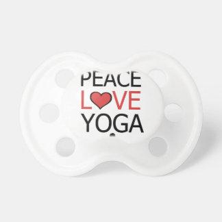 Peace Love & Yoga Pacifiers