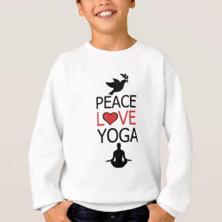 Peace Love & Yoga Sweatshirt